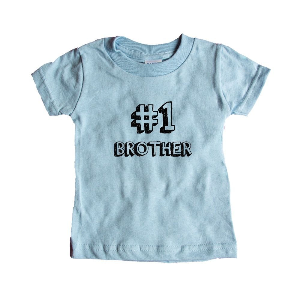 Number 1 Brother Sibling Dad Dads Father Fathers Grandparents Grandfather Children Kids Parent Parents Parenting Unisex Adult T Shirt SGAL3 Baby Onesie / Tee