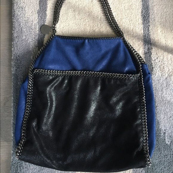 7b3d3f7b2ee1 Stella McCartney Falabella Large Tote Shaggy deer tote - black   blue. LIKE  NEW. VERY RARE COLOR COMBINATION FOR THIS STYLE BAG. BOUGHT A COUPLE YEARS  AGO.