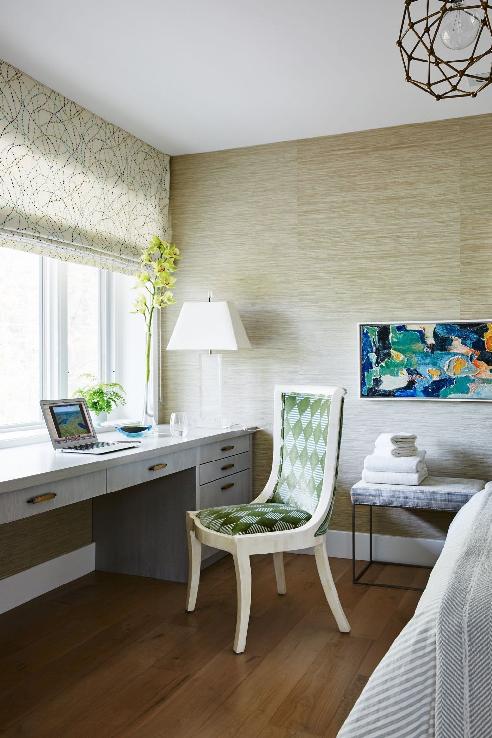 City Modern | Guest Bedroom | Chair and desks | Home ...
