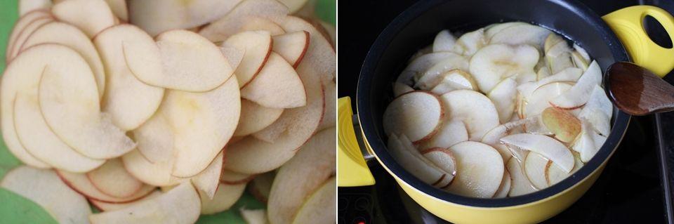 Rezept/Anleitung: Apfel-Blätterteig-Rosen mit Karamell