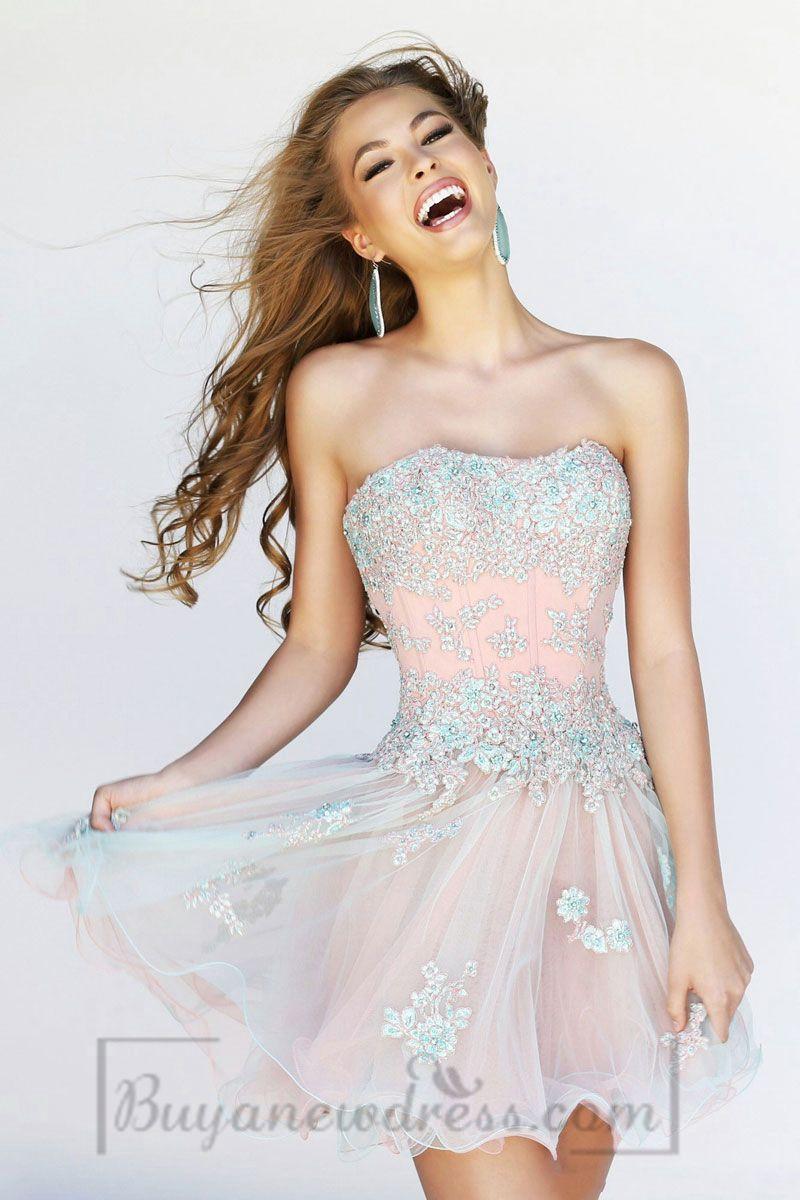 Strapless empire waist prom dress womenus fashion pinterest