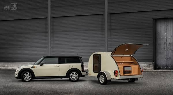 mini cooper clubman and alpha mini caravan by dusan cool. Black Bedroom Furniture Sets. Home Design Ideas