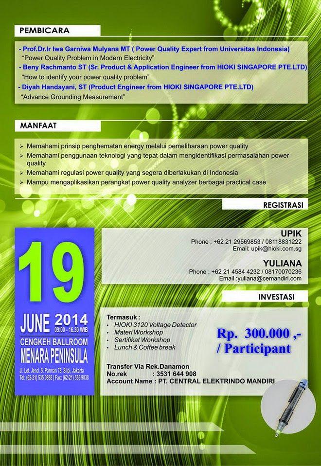 Http Pameran 2014 Blogspot Com 2014 06 Workshop Advance Power Quality Jakarta Html Pameran Tanggal