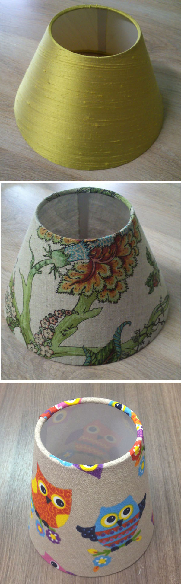 Небольшие абажуры для люстр и бра. Small lampshades for wall lamps and chandeliers
