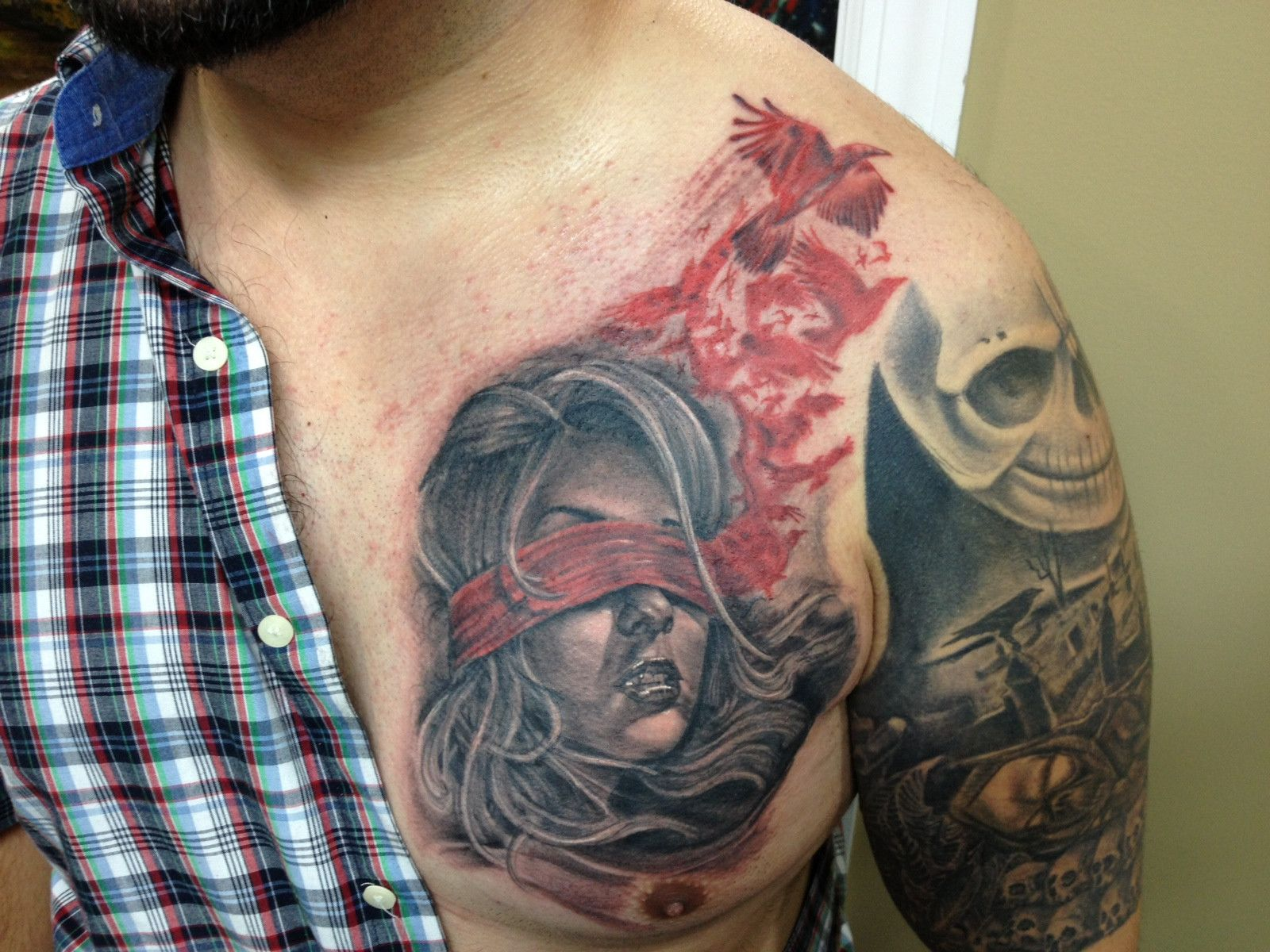 A portion of my chest piece done by my good friend, Javier ... - photo#12