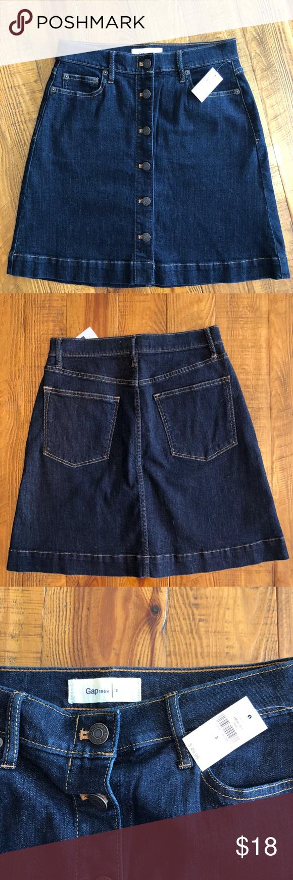 fcfcee629 Gap Button Down Denim Skirt | Saddha