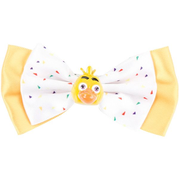 Hot Topic Five Nights At Freddy's Chica Cosplay Hair Bow ($6.37) ❤ liked on Polyvore featuring multi