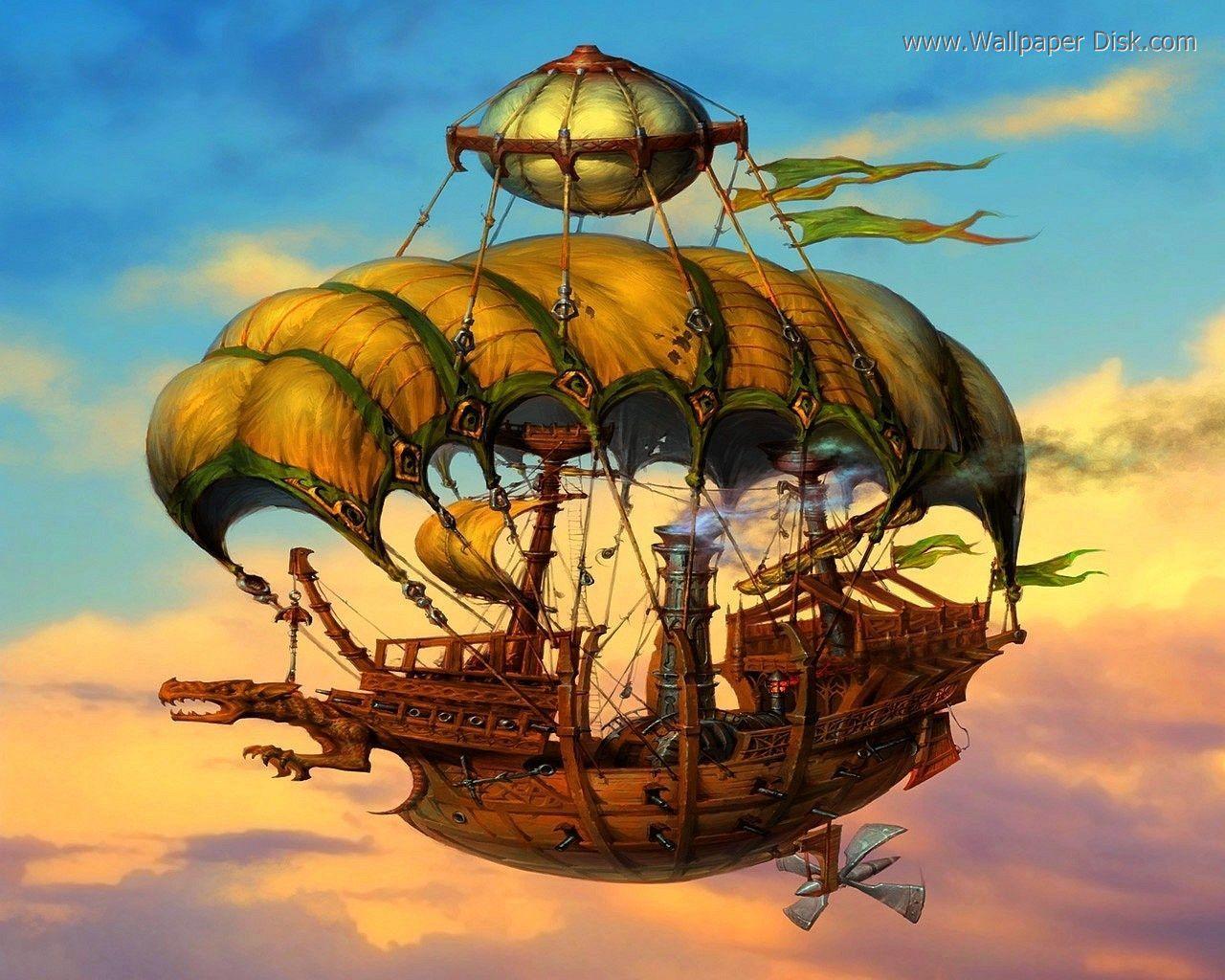 Futuristic Flying Boat - Google Black Beach