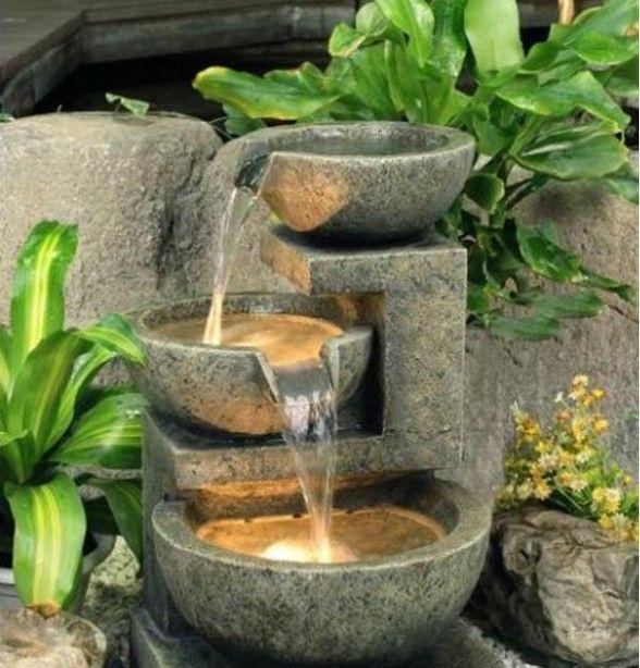 Como instalar una fuente en tu jardin decoraci n - Fuentes de agua de jardin ...