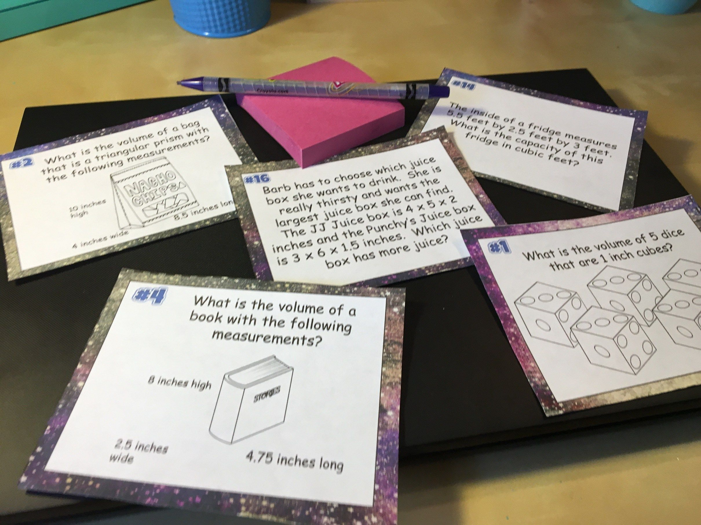 Task Cards In The Middle School Math Classroom With