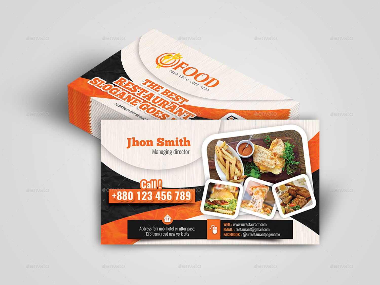 Restaurant Business Card Restaurant Business Cards Food Business Card Photographer Business Card Template