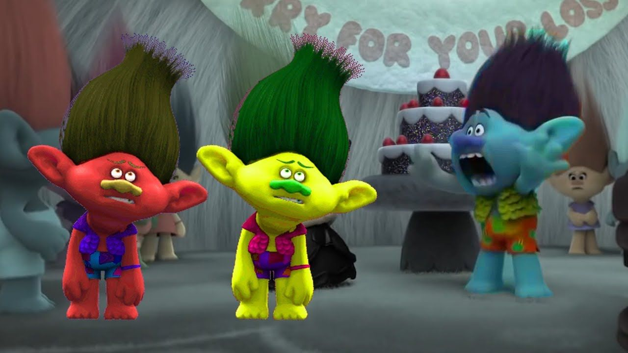 Trolls Funny Moments | Colors Learning Video for Kids Children ...