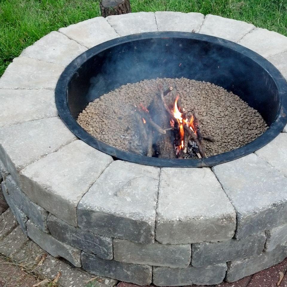Round Diy Firepit Kit Dakota Tapered Blocks J N Stone Dakota
