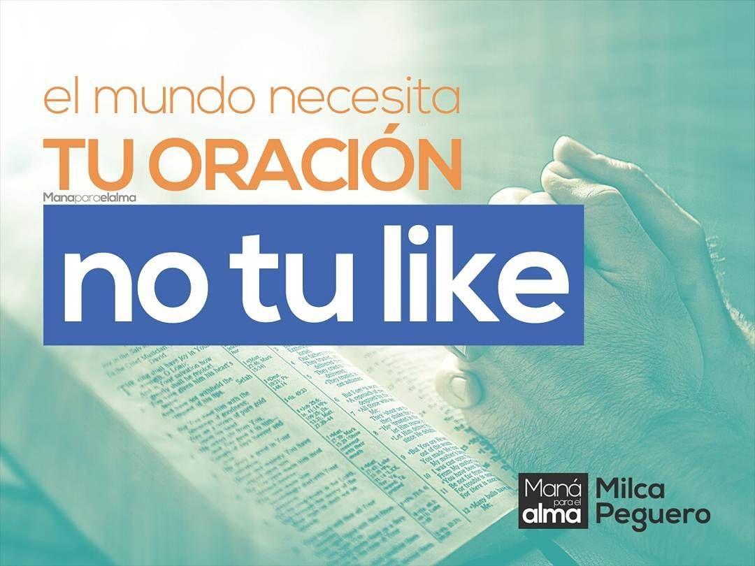 Dejemos de pedir tantos me gusta a cambio del milagro de Dios y hagamos lo que realmente Dios nos envió a hacer.  Sigue leyendo en http://manaparaelalma.com/el-mundo-necesita-tu-oracion-no-tu-like #ManaParaElAlma #Facebook #Oración #OracióndeFe #Fe #HijosdeDios #Evangelizar #Evangelio