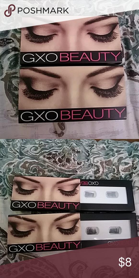 340563db80a 2 boxes of magnetic eyelashes GXO Beauty magnetic eyelashes, super easy to  put on and reusable Makeup False Eyelashes