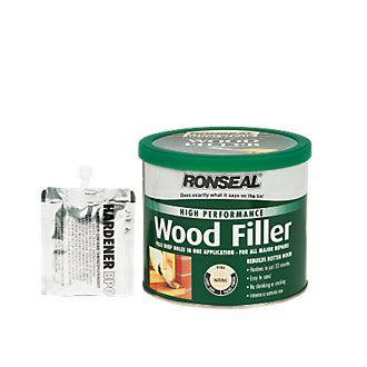 Ronseal High Performance Wood Filler Natural 550g Wood Filler Wood Refinishing Wood