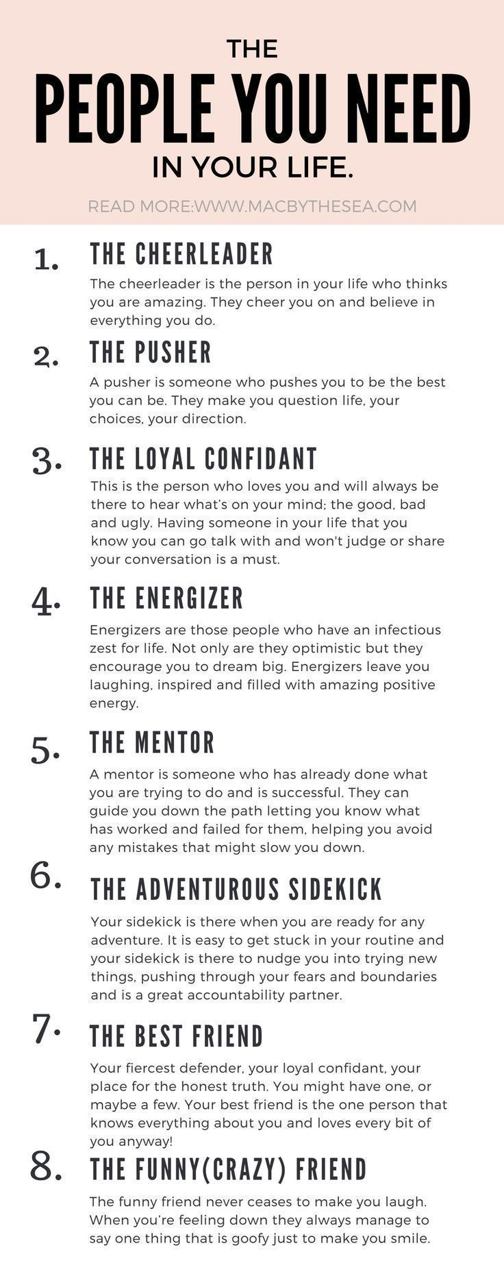 THE EIGHT FRIENDS YOU NEED IN YOUR LIFE | Mental Health | Pinterest ...