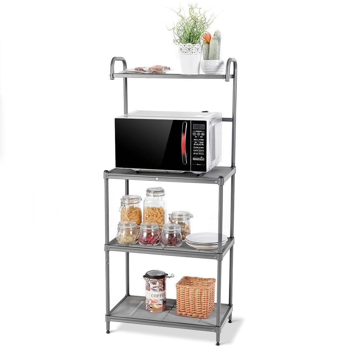4 Tier Kitchen Storage Baker Microwave Oven Rack Shelves 60 95