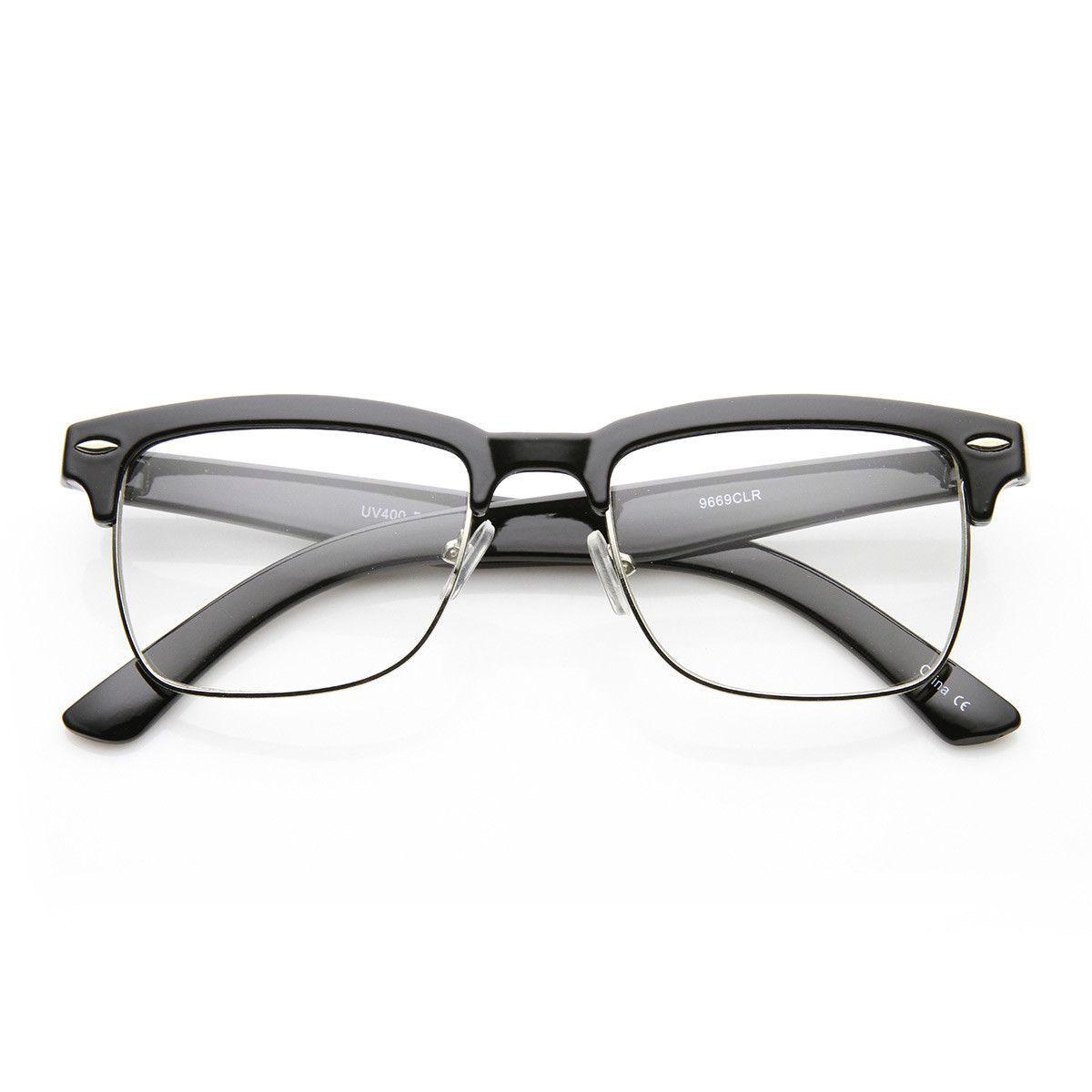 74475dd3b33da Unisex Square Medium Semi-Rimless Modern Fashion Glasses Roupas, Armações  De Óculos Masculinas,