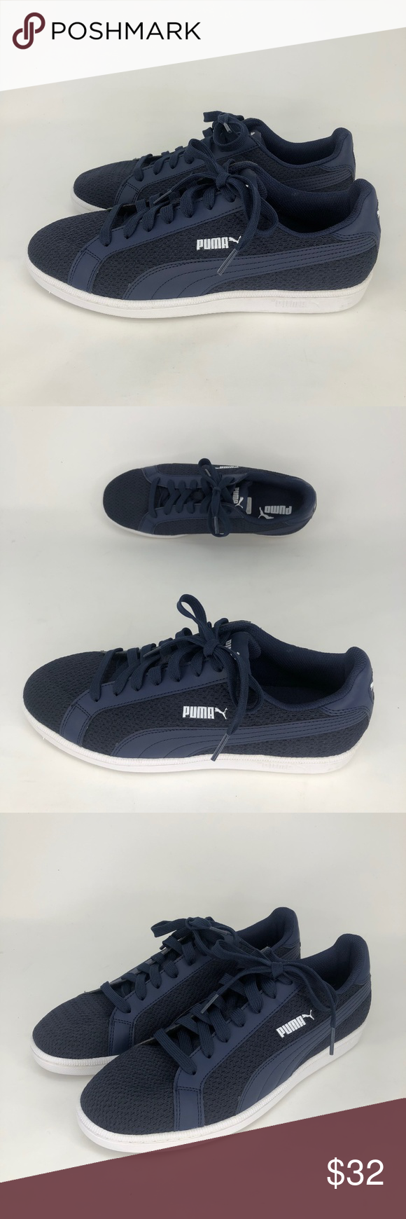 737367f831fd Puma Smash Knit Classic Casual Sneakers Navy Blue NEW Puma Smash Knit C  Men s Classic Casual Sneakers Dark Navy Blue Size 9.5 Textile and Synthetic  Imported ...
