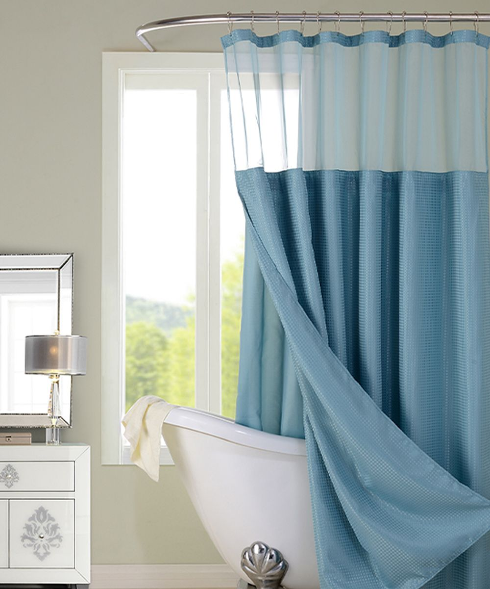 9756bf524a3 Aqua Hotel Sheer-Top Shower Curtain | Products | Hotel shower ...