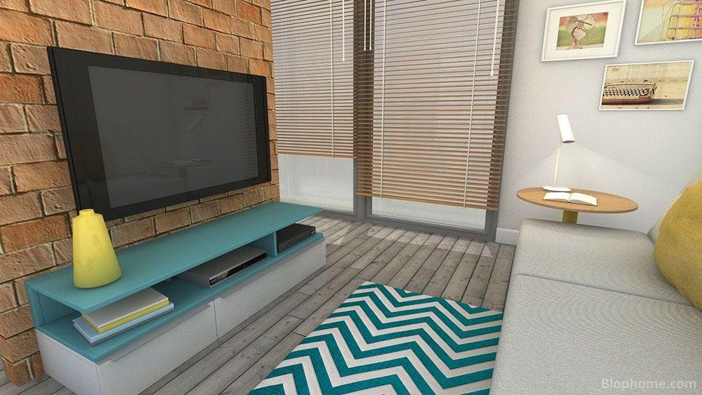 Muebles para la televisión en un proyecto de cocina y sala de ...
