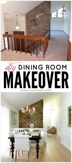 DIY Dining Room Makeover Ideas. Love This Post! So Many Practical Ideas On  How