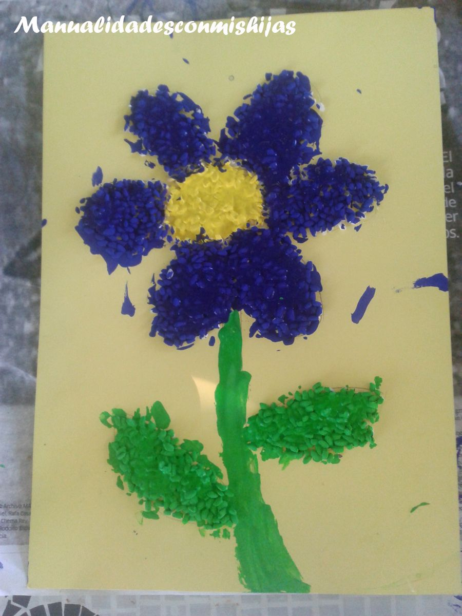 Dibujos Con Arroz Pintado Flor Y Estrella