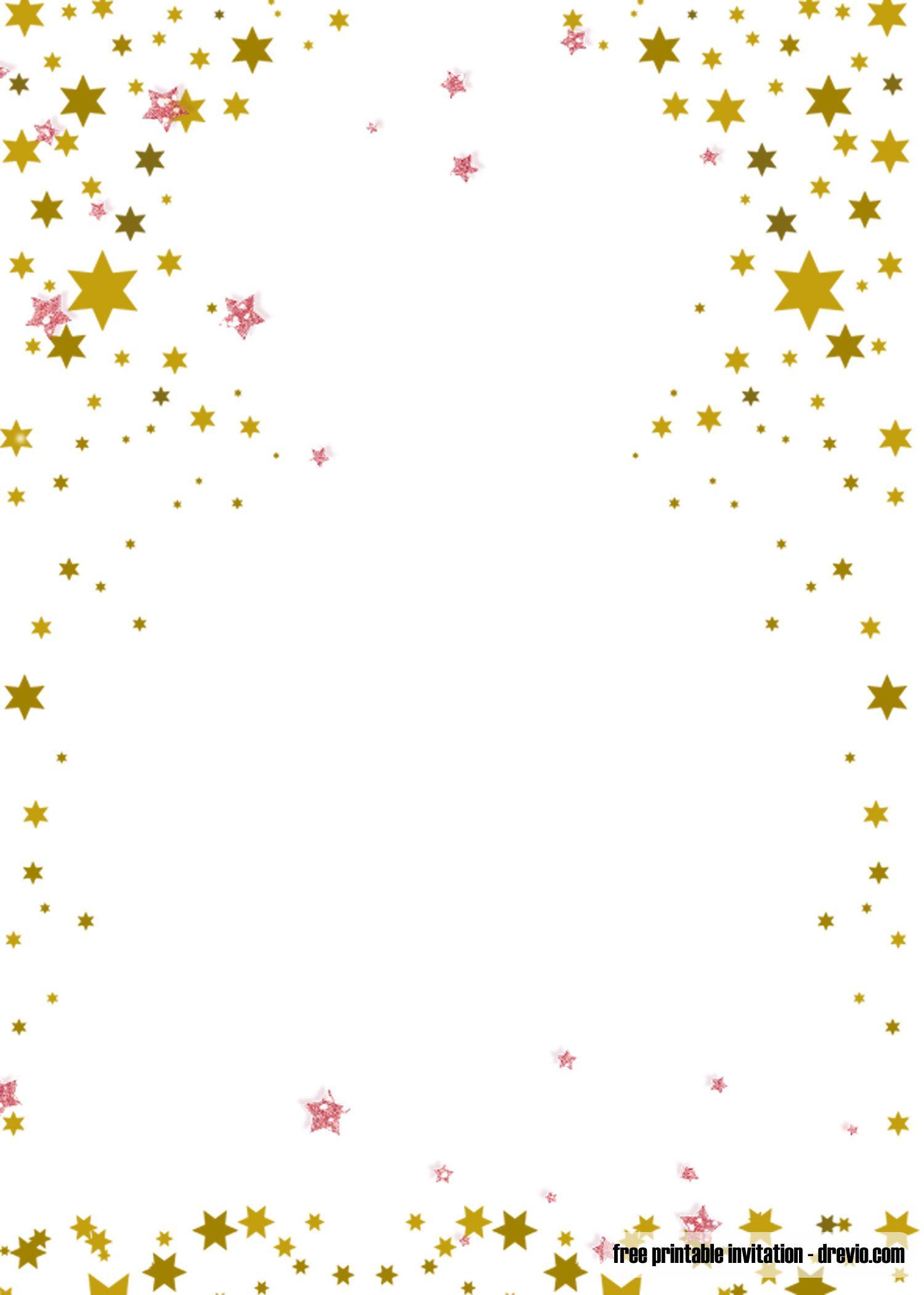 Free Printable Twinkle Twinkle Little Star Invitation Templates Printable Birthday Invitations Star Baby Shower Invitations Free Printable Birthday Invitations