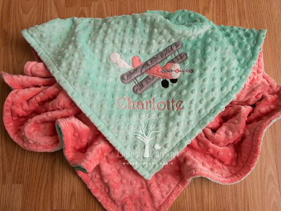Airplane personalized minky baby blanket airplane minky baby airplane personalized minky baby blanket airplane minky baby blanket personalized baby girl blanket personalized baby gift by lullabygardens on etsy negle Gallery