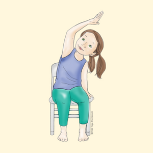 40 Kid Friendly Chair Yoga Poses Kids Yoga Stories Yoga Resources For Kids Chair Yoga Yoga For Kids Happy Baby Pose