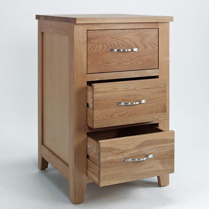 Sherwood Solid Oak Cabinet (Storage 2 Door, 3 Drawers) - - Chest Of ...