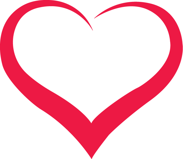 Red Outline Heart Png Image Download Heart Shapes Template Heart Outline Shape Templates