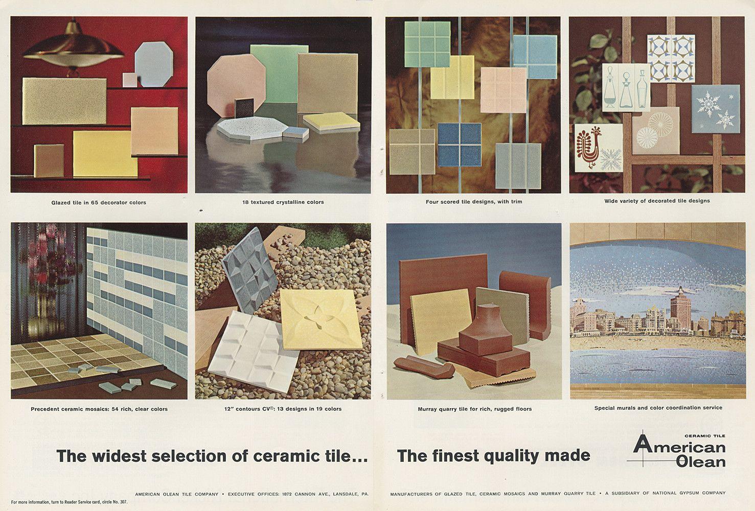 American olean ceramic tile home 03 pinterest vintage american olean ceramic tile dailygadgetfo Choice Image