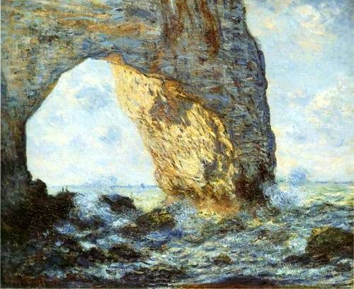 The Manneporte , 1883 painting, aClaude Monet paintings ...