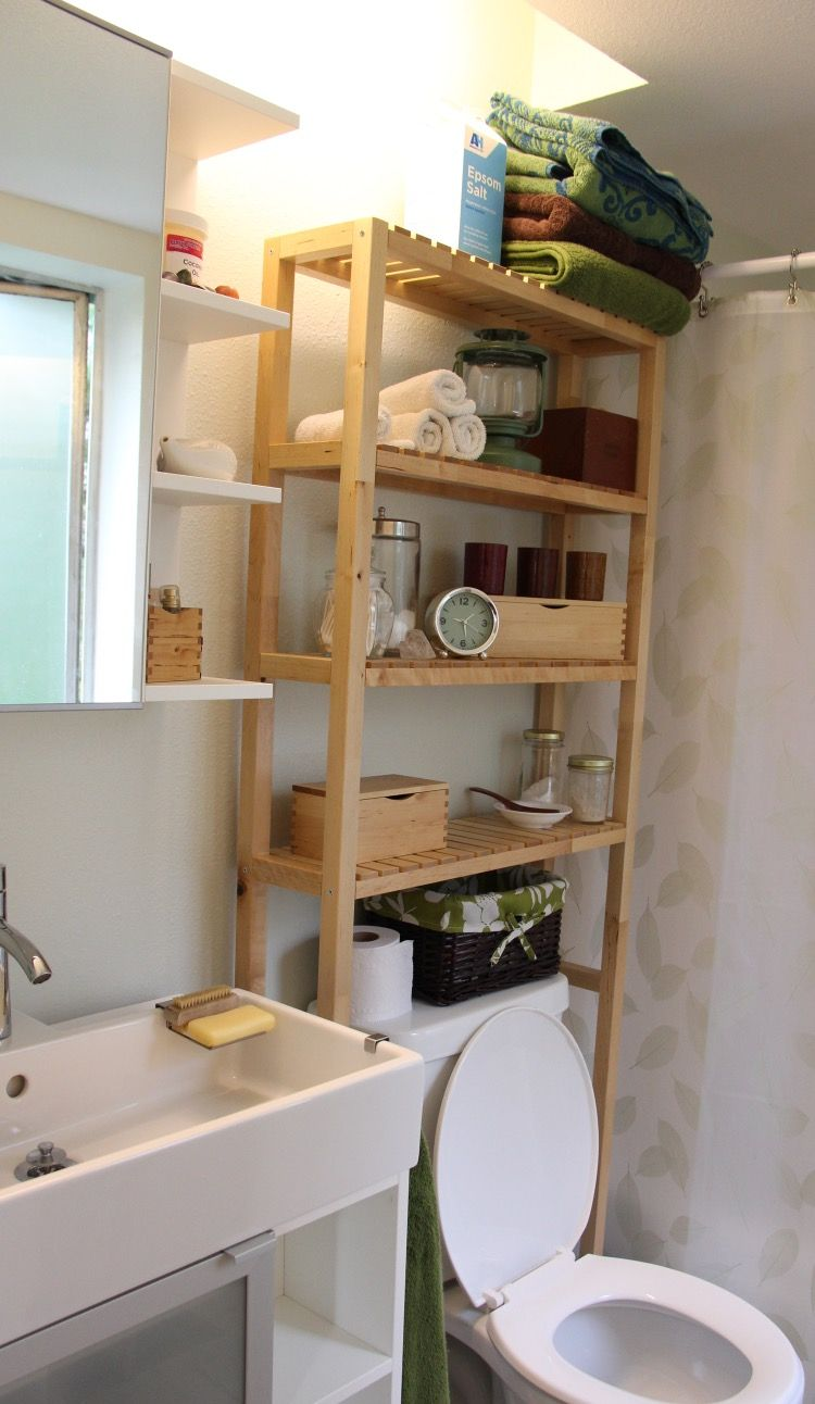 IKEA Molger Open Storage For Over The Toilet Or Radiator Mixed With Lillangen Range Small Bathroom
