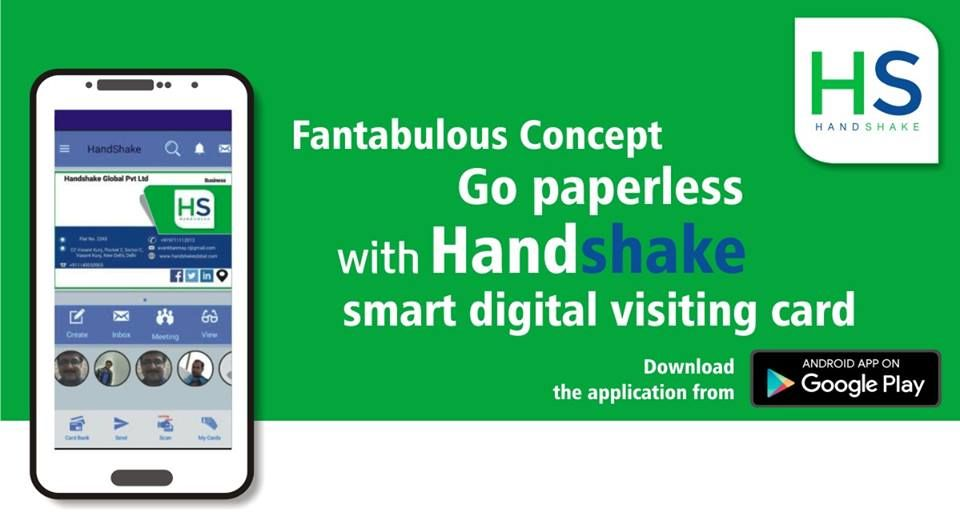 Go Paperless With HandShake, Prepare and Share Smart Digital - visiting cards