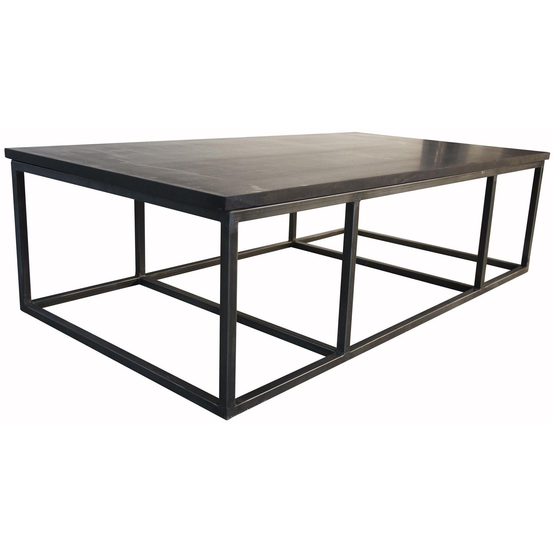 Noir stone coffee table with metal base material iron metal base noir stone coffee table with metal base material iron metal base dark granite stone geotapseo Image collections