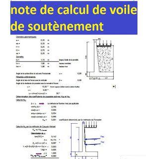 Exemple De Note De Calcul De Voile De Soutenement Pdf Geniecivil Batiment Construction Btp Notedecalcul Murdesouten Mur De Soutenement Soutenement Calcul