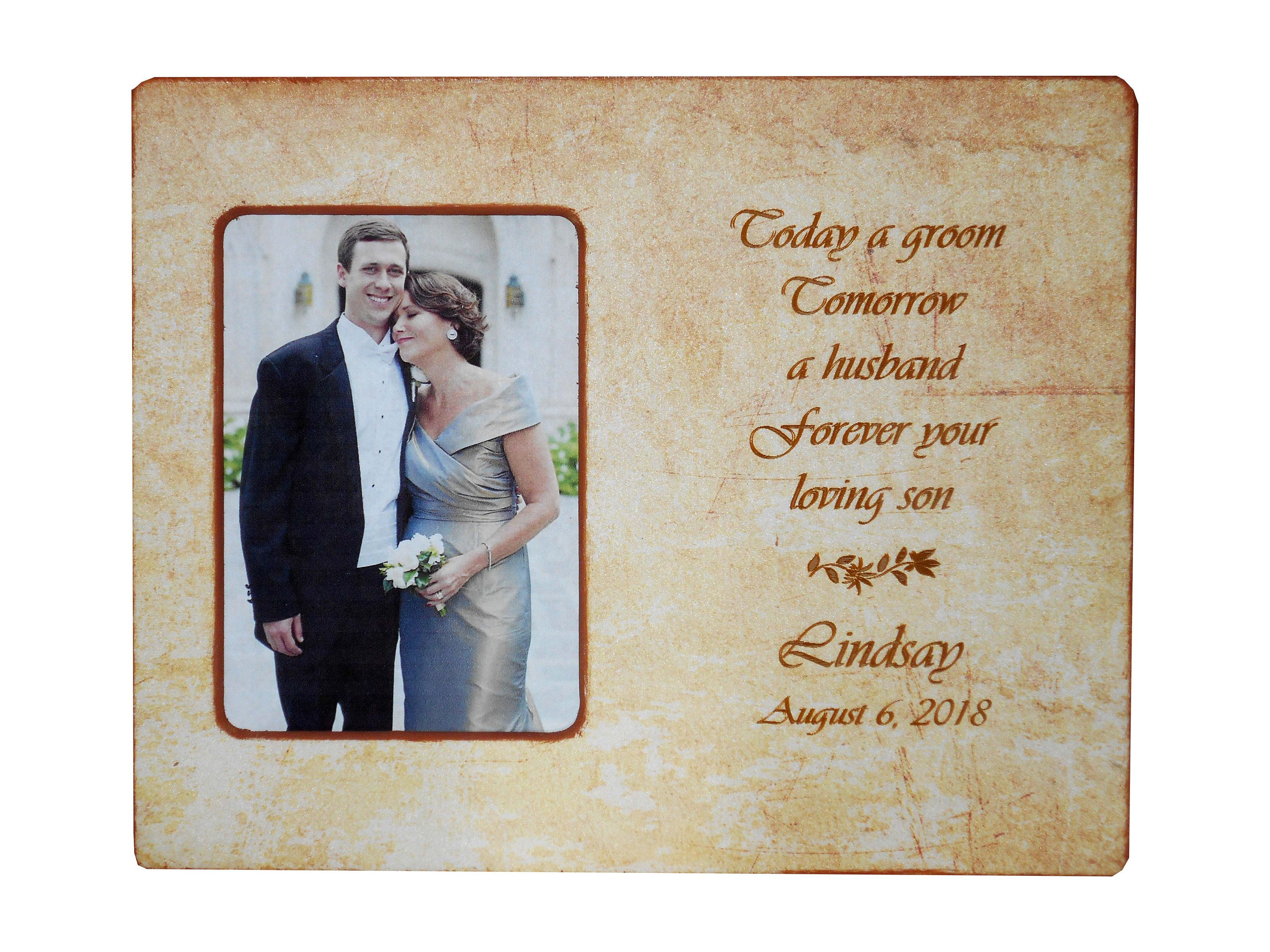 Dad wedding giftpersonalized picture framegroom gift to