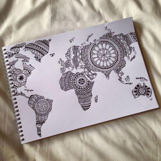 Art artist draw drawing dream mandala world world map art art artist draw drawing dream mandala world world map gumiabroncs Images