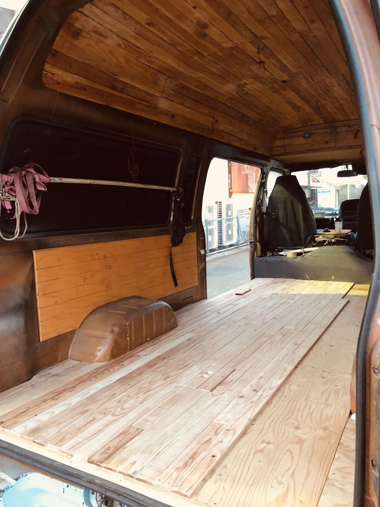 床材化粧板貼り ハイエース 内装 ハイエース 車 内装