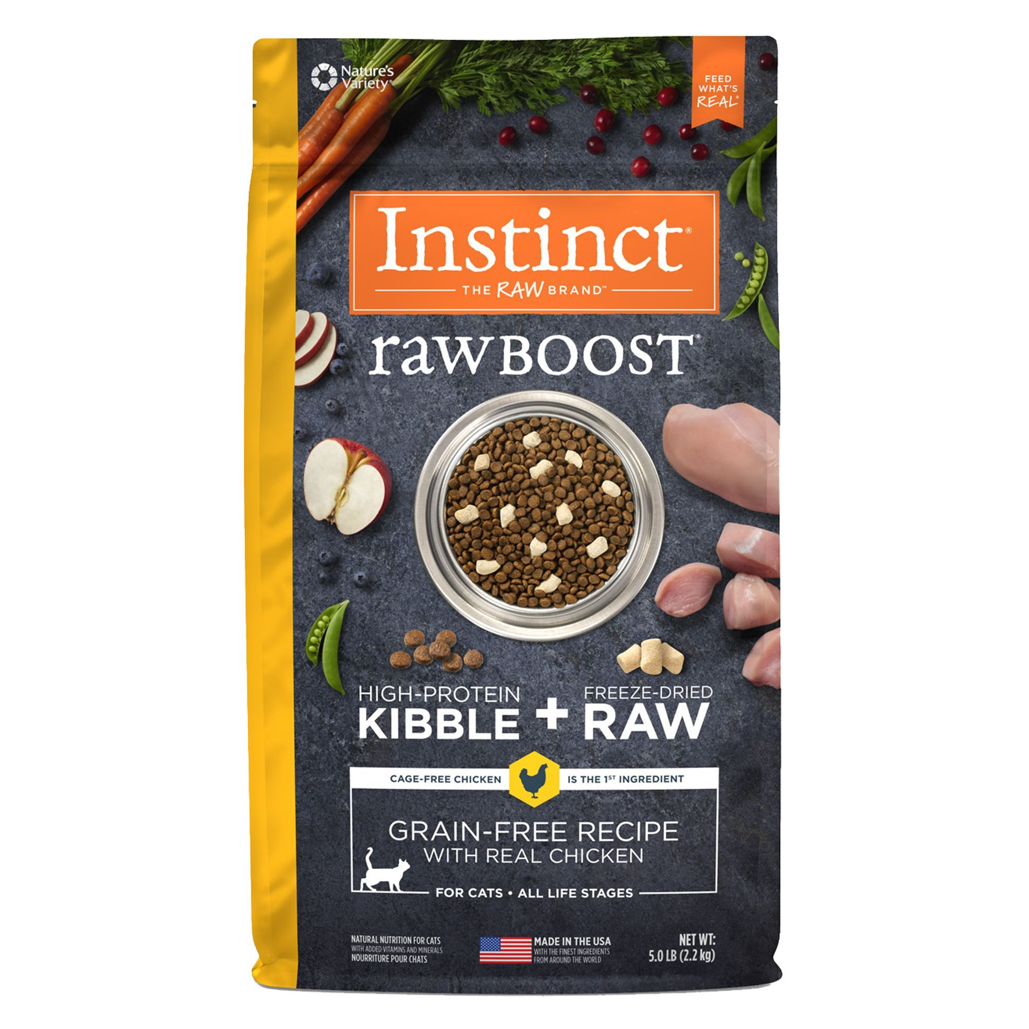 Natures variety instinct raw boost cat food natural