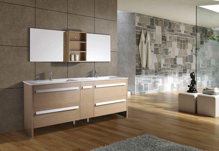 105 idées de design de la salle de bain de style moderne - meuble salle de bain pierre naturelle