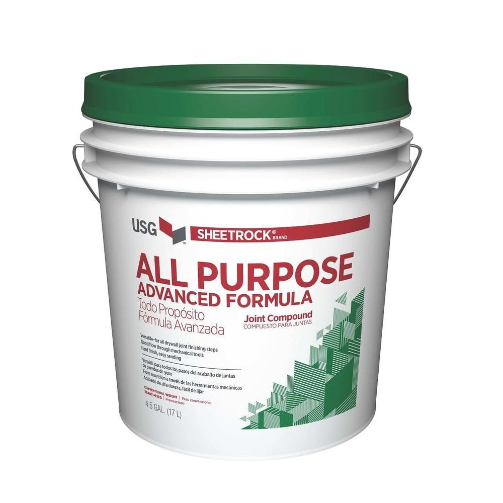 Usg Sheetrock Brand 4 5 Gal All Purpose Pre Mixed Joint Compound 380119048 Plaster Repair Drywall Skim Coating