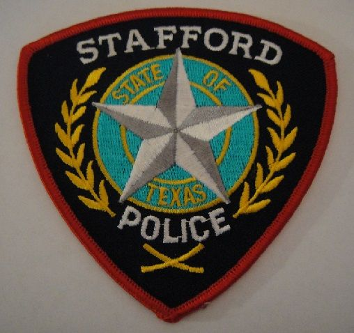 Stafford Pd Tx Police Patches Police Badge Texas Police