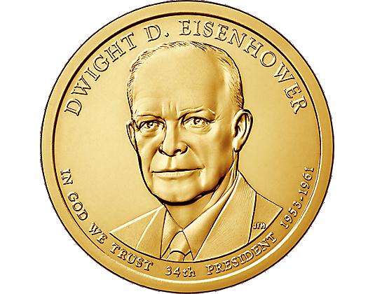 Numisbrief Präsidentendollar Eisenhower Mdm Deutsche Münze Mdm
