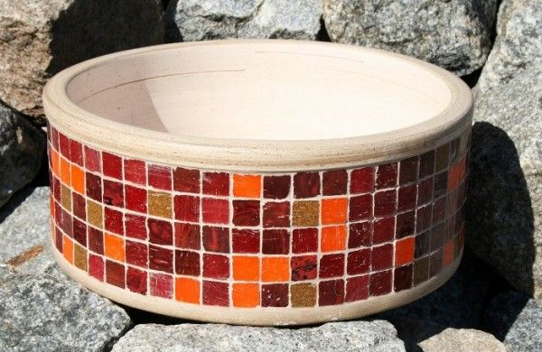 Bacha de ba o con venecitas mosaic diy decoraci n de for Banos decorados con guardas de venecitas