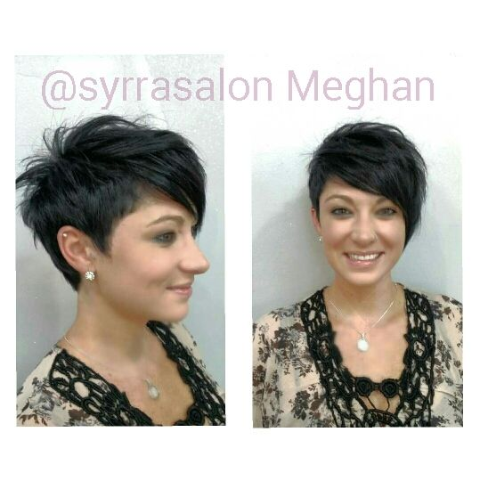 Asymmetrical Undercut Long Pixie Coupe De Cheveux Cheveux