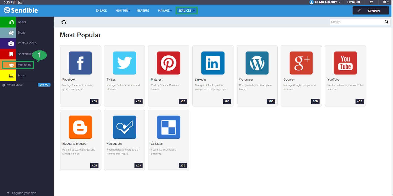 Social Management Dashboard